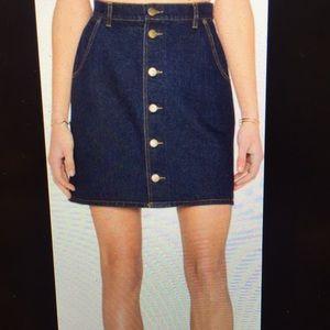 ASOS denim mini skirt